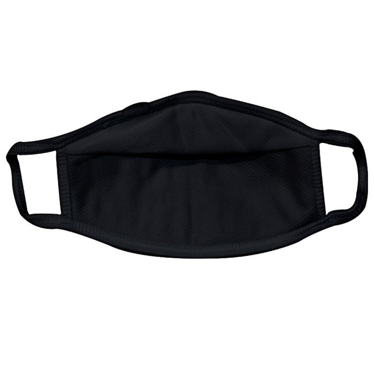 Protective mask, black, smaller mask shape