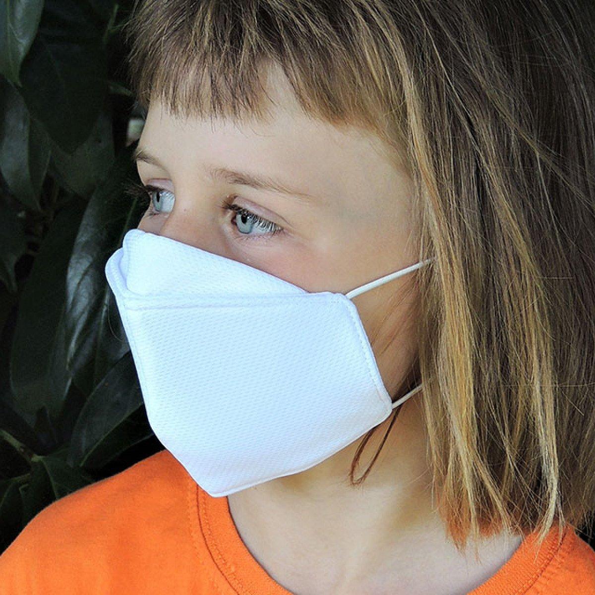 Protective mask for children, white, smal mask shape